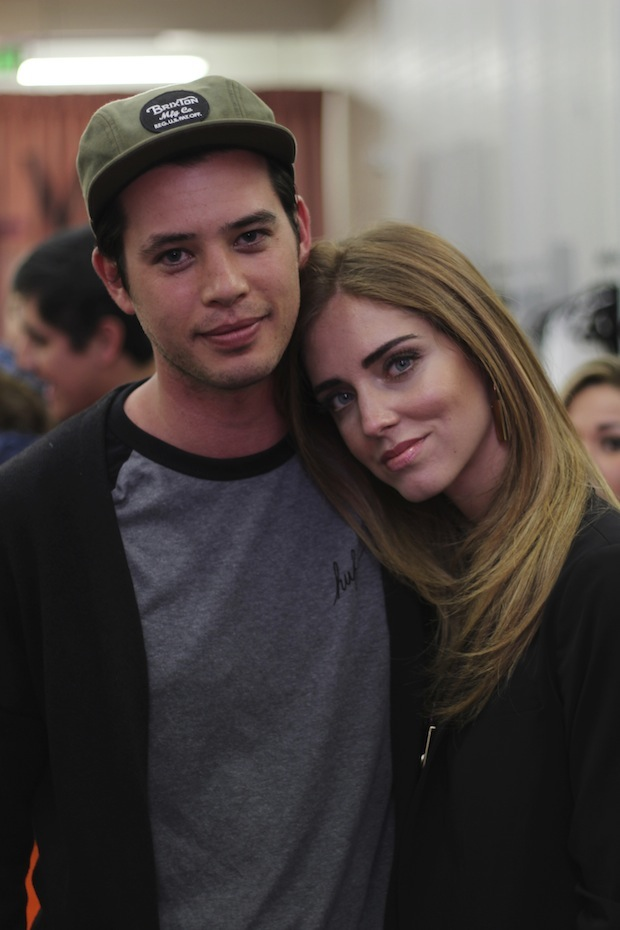 Chiara Ferragni and Andrew Arthur at Blonde Salad Event With Revolve at The Grove West Hollywood