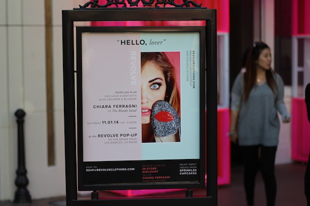 Shoe Designer and Blogger Chiara Ferragni event at The Grove Revolve Pop Up Shop