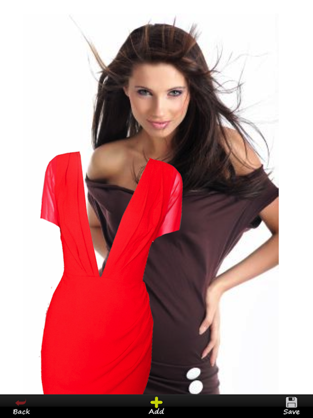 My Cool Look Virtual Dressing Room App Red Dress holiday shopping