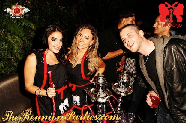 Olianna the founder owner of Hookahp Table service at Roxbury nightclub LA Hollywood