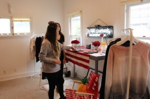 Angeleno perfect sweatshirt at Golden Globes hot LA Event at Optic White Beauty Lounge in WEHO