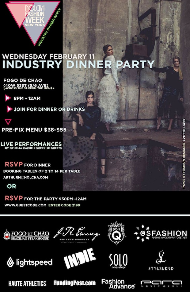 Style Lend and Nolcha Fashion Week 2015 Fashion Dinner NYFW 2015 Events in Feb