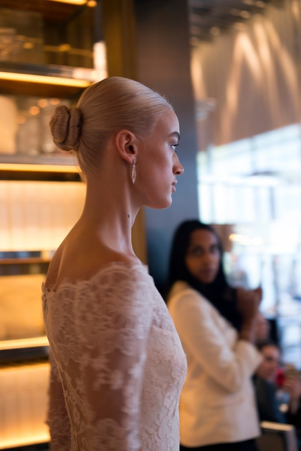 Bridal Bun Hair Trends at Monique Lhuillier Fashion Show 2015