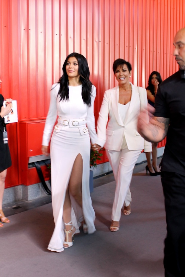 Kylie Jenner and Kris Jenner at NBC Upfront Presentation Red Carpet Event NYC
