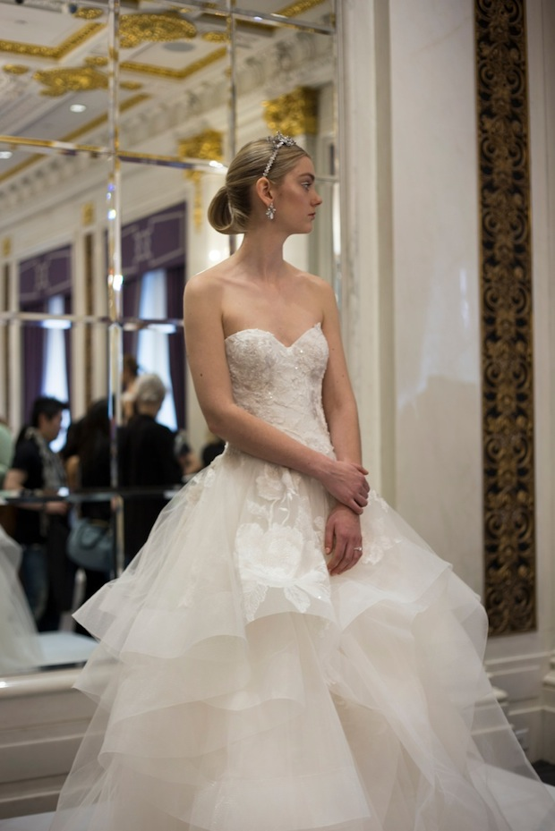 Marchesa Strapless NYFW Bridal dress trends 2015