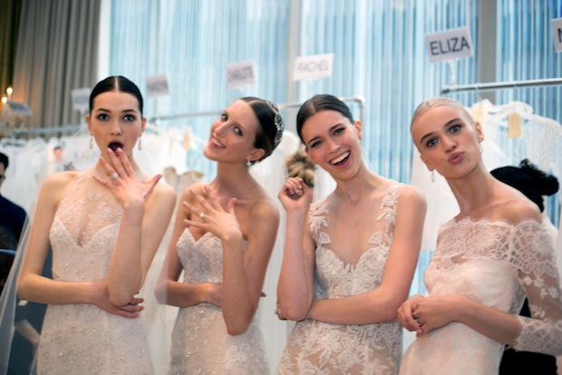 NY Bridal Week Backstage Monique Lhuillier