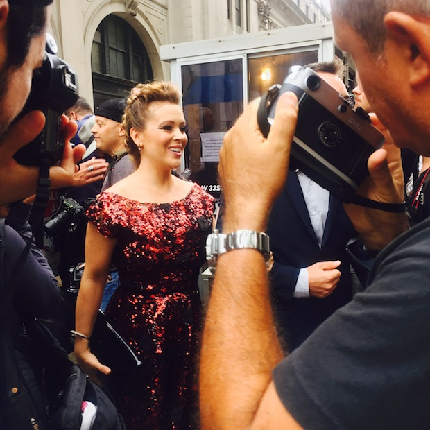 Alyssa Milano attends NYFW Project Runway Show