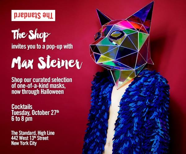 Max Steiner Masks Pop Up Shop NYC
