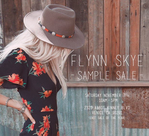 Los Angeles Sample Sale is here shop Flynn Skye on Abbot Kinney