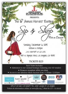 Sip and Shop Event Los Angeles Junior Leage of Los Angeles