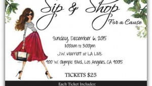 Sip and Shop Event Los Angeles December 2015 Junior Leage of Los Angeles