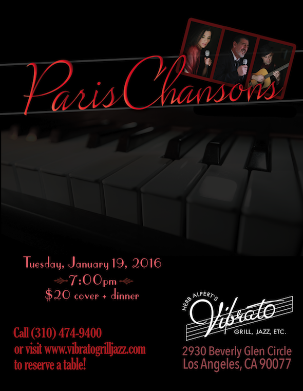 French Band in LA Paris Chansons at Vibrato Jazz Club