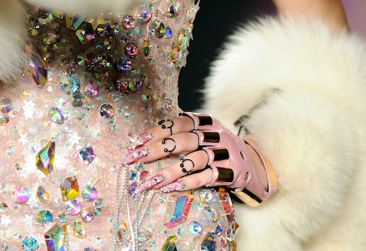 CND For Blonds New York Fashion Week Sparkly Wild Nails Backstage FW2016 Nail Trends