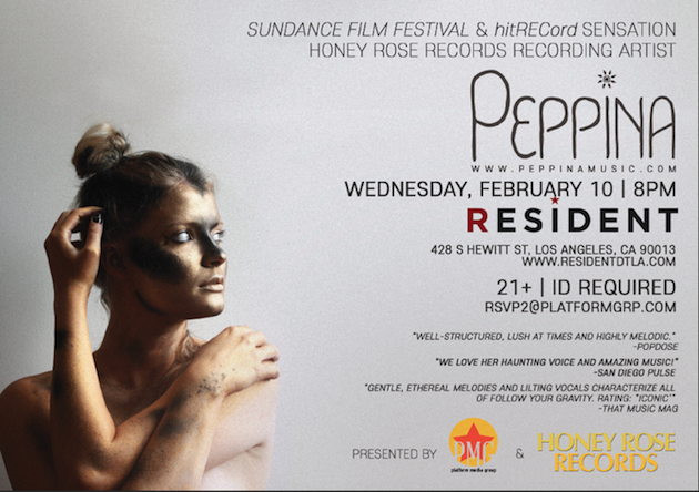 Peppina Performs at Resident Los Angeles