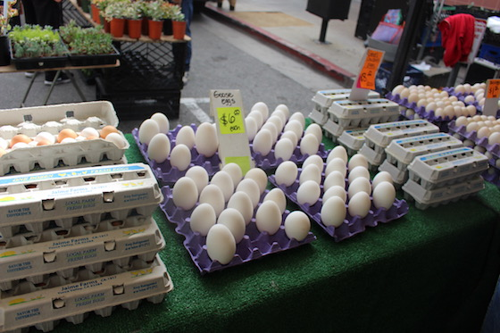 Goose Eggs in Los Angeles Farmers Market