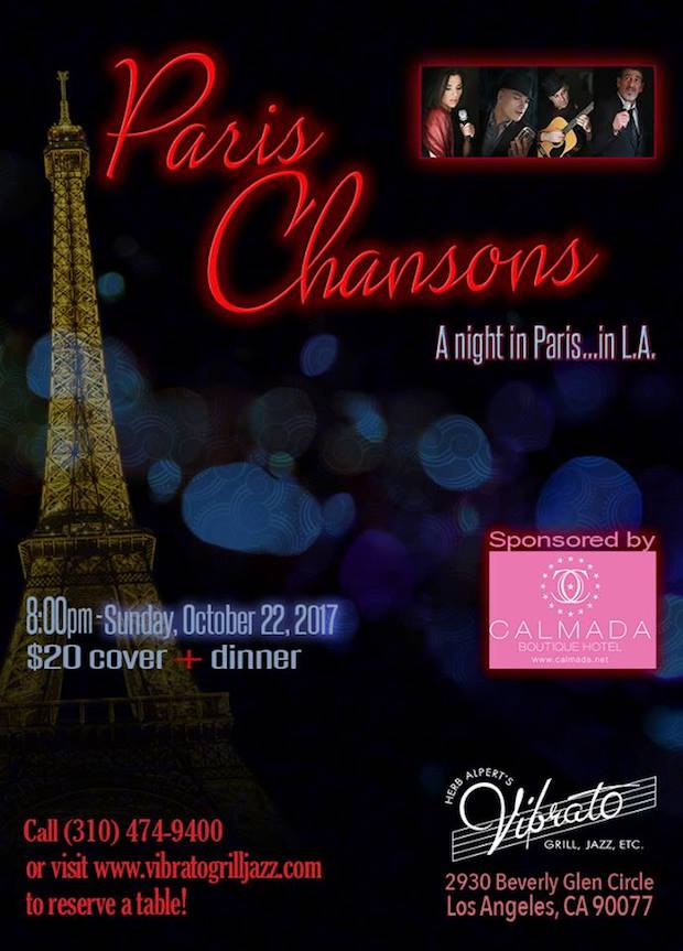 Paris Chansons Band at Vibrato Grill Restaurant in Bel Air