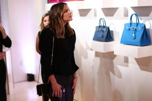 Katherine McPhee Tradesy Party Santa Monica Blue Hermes Bags