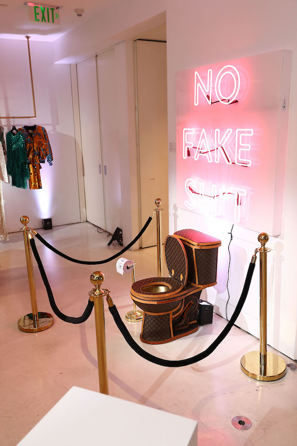 Louis Vuitton Toilet at Tradesy Showroom Opening in Santa Monica