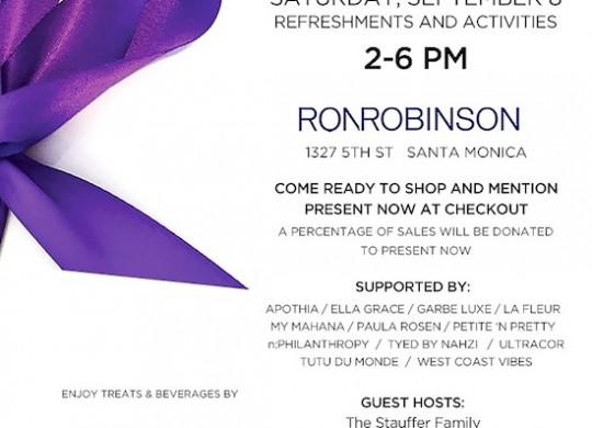 Ron Robisnson Back to school event in Santa Monica 2018