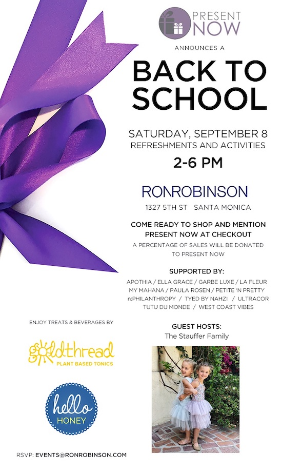 Ron Robisnson Back to school event in Santa Monica 2018
