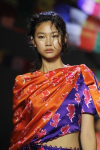 Prabal Gurung New York Fashion Week Runway Show Bright Colors rock the runway SS19