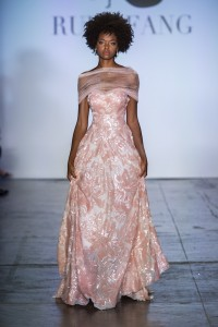 Ruby Fang rose gown NYFW runway show