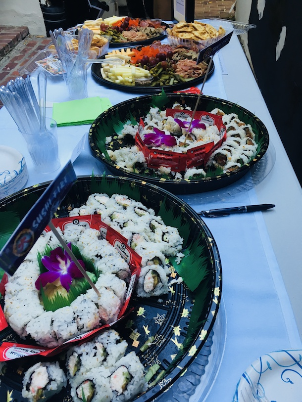 Sushi Fire at Ken Paves Salon Event SH-RD